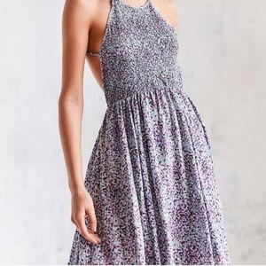 Smocked open back dress